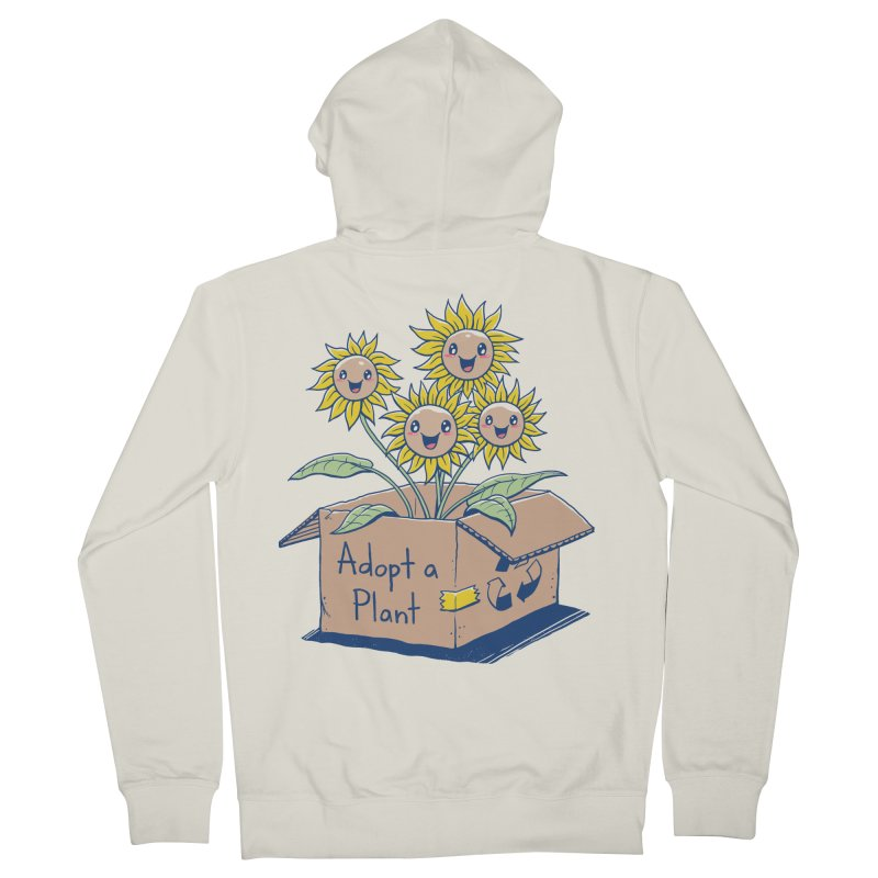 Adopt a Plant Men's French Terry Zip-Up Hoody by Vincent Trinidad Art