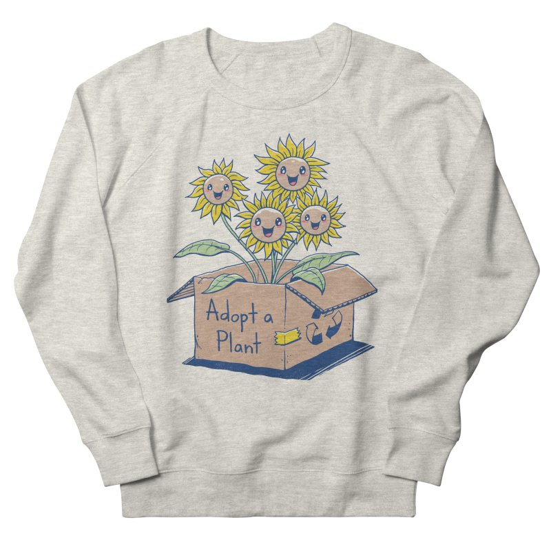 Adopt a Plant Men's French Terry Sweatshirt by Vincent Trinidad Art