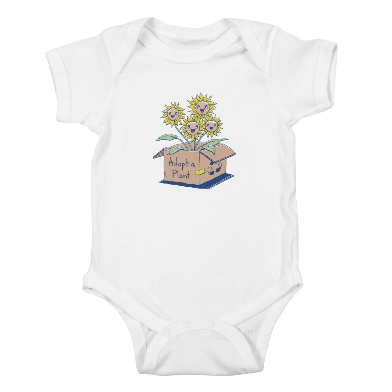 Adopt a Plant Kids Baby Bodysuit by Vincent Trinidad Art