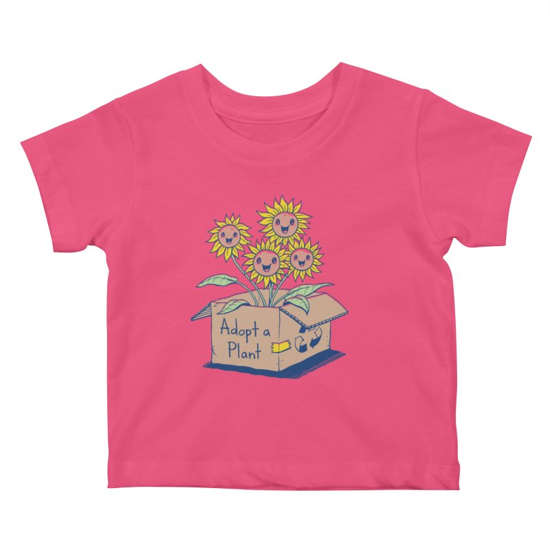 Adopt a Plant Kids Baby T-Shirt by Vincent Trinidad Art
