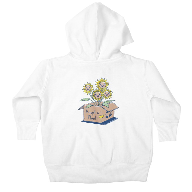 Adopt a Plant Kids Baby Zip-Up Hoody by Vincent Trinidad Art