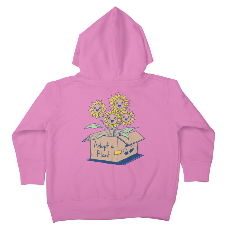 Adopt a Plant Kids Toddler Zip-Up Hoody by Vincent Trinidad Art