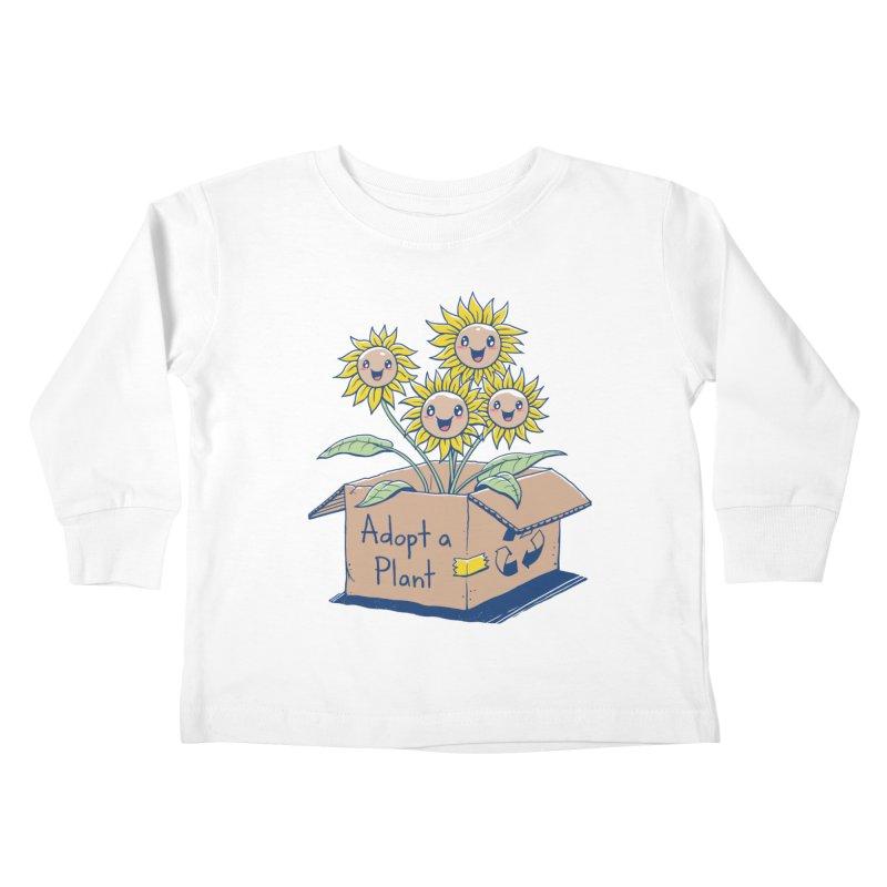 Adopt a Plant Kids Toddler Longsleeve T-Shirt by Vincent Trinidad Art