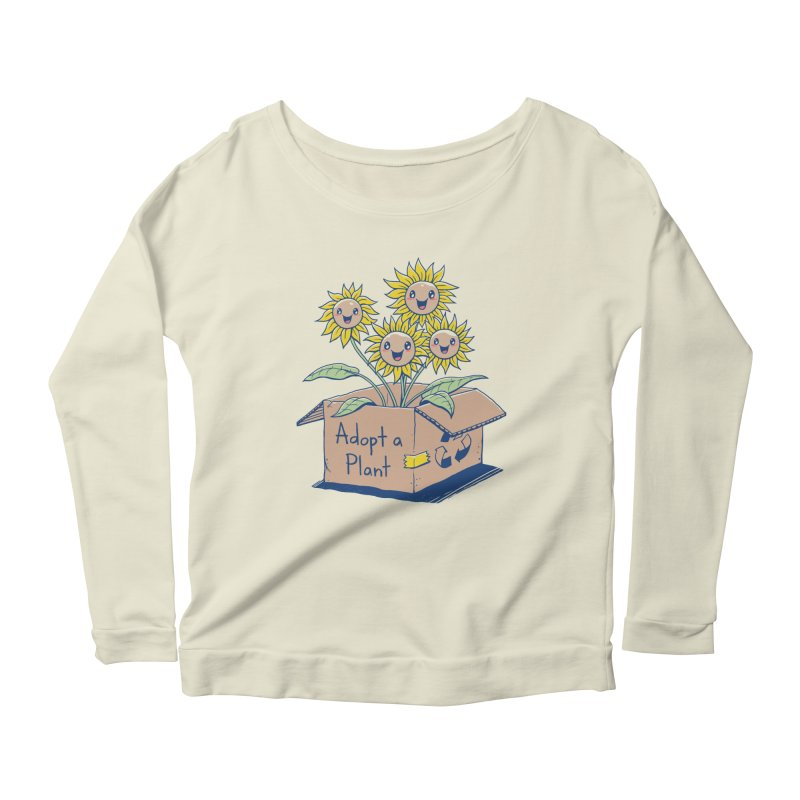 Adopt a Plant Women's Scoop Neck Longsleeve T-Shirt by Vincent Trinidad Art