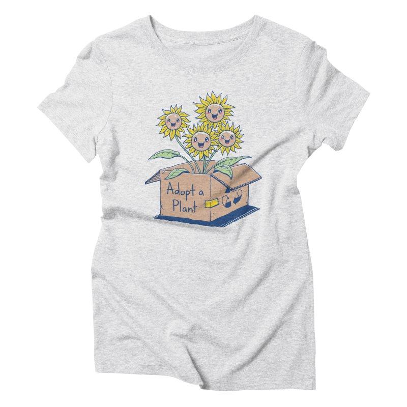 Adopt a Plant Women's Triblend T-Shirt by Vincent Trinidad Art