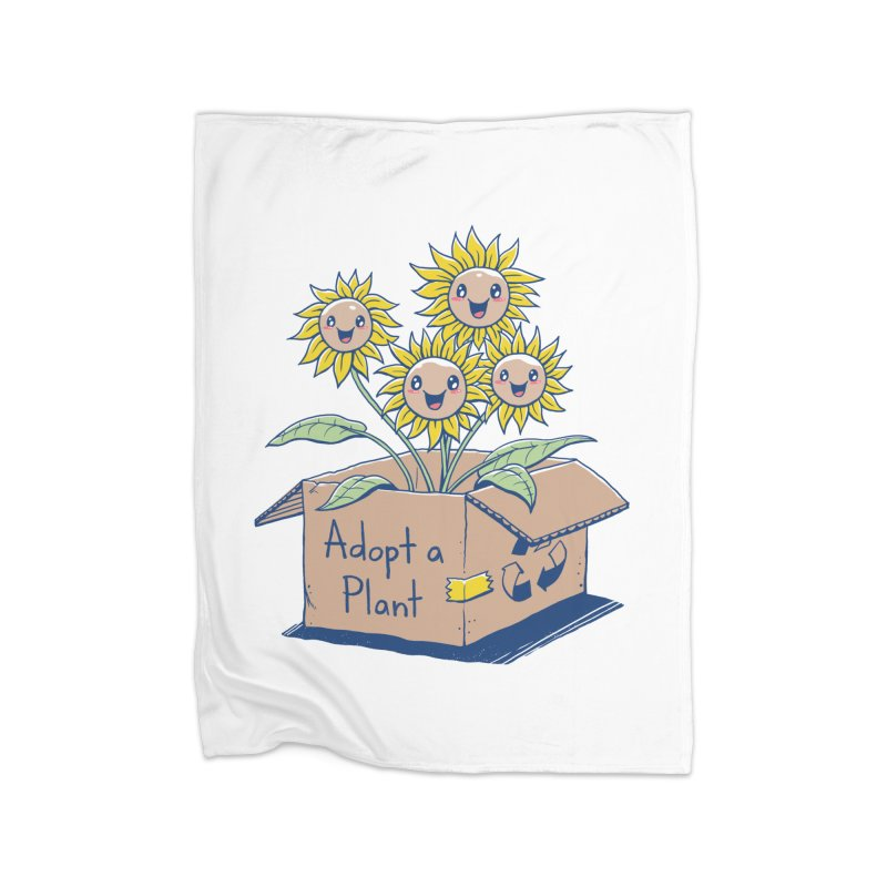 Adopt a Plant Home Fleece Blanket Blanket by Vincent Trinidad Art