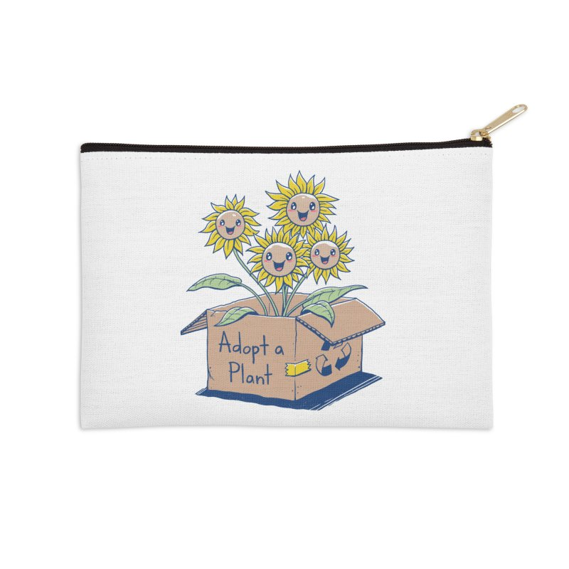 Adopt a Plant Accessories Zip Pouch by Vincent Trinidad Art