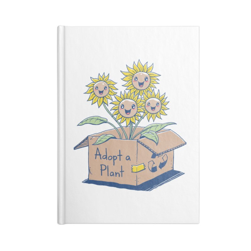 Adopt a Plant Accessories Lined Journal Notebook by Vincent Trinidad Art
