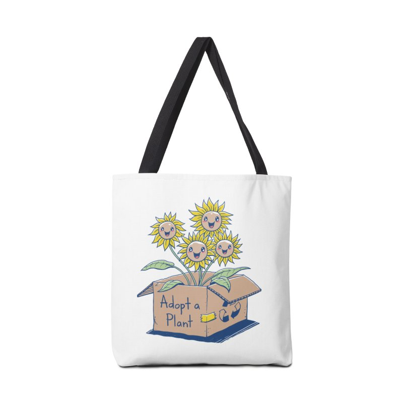 Adopt a Plant Accessories Tote Bag Bag by Vincent Trinidad Art