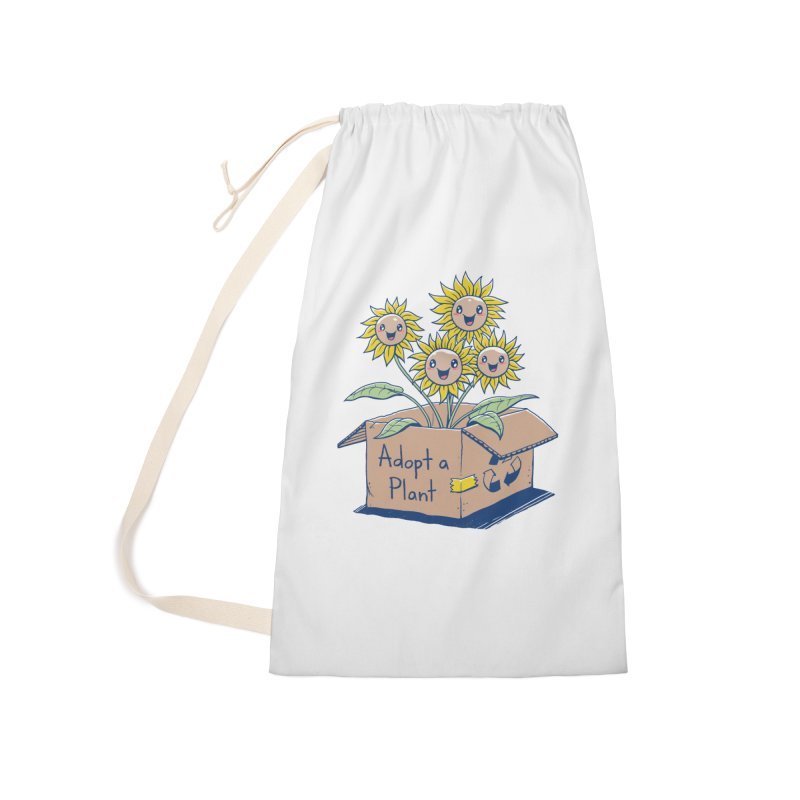 Adopt a Plant Accessories Laundry Bag Bag by Vincent Trinidad Art