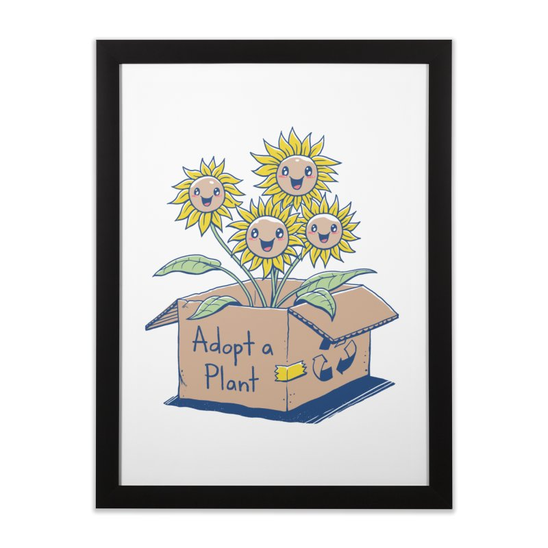 Adopt a Plant Home Framed Fine Art Print by Vincent Trinidad Art