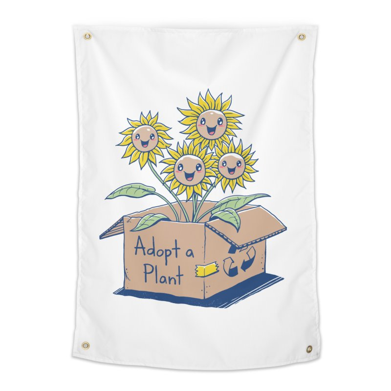 Adopt a Plant Home Tapestry by Vincent Trinidad Art