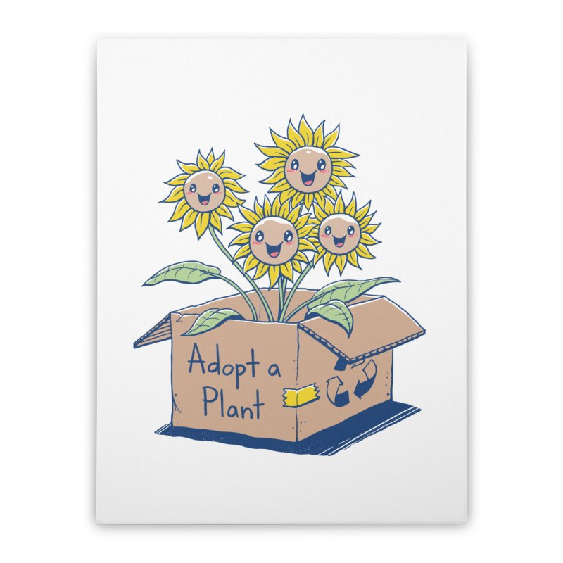 Adopt a Plant Home Stretched Canvas by Vincent Trinidad Art