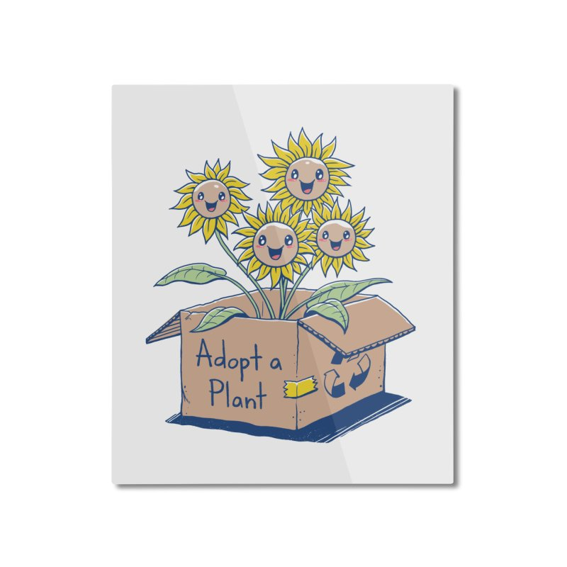 Adopt a Plant Home Mounted Aluminum Print by Vincent Trinidad Art
