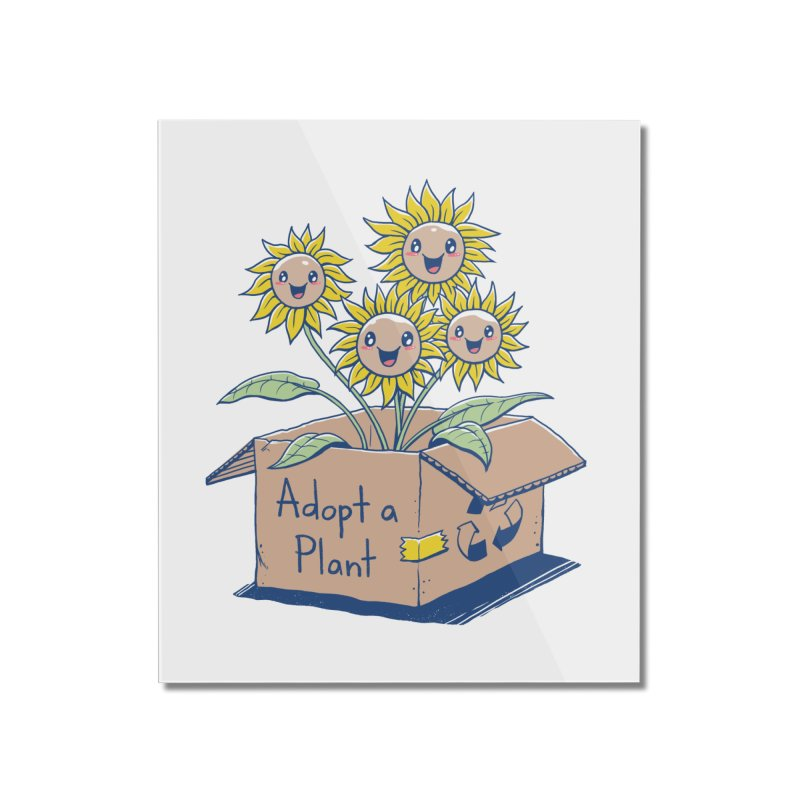 Adopt a Plant Home Mounted Acrylic Print by Vincent Trinidad Art