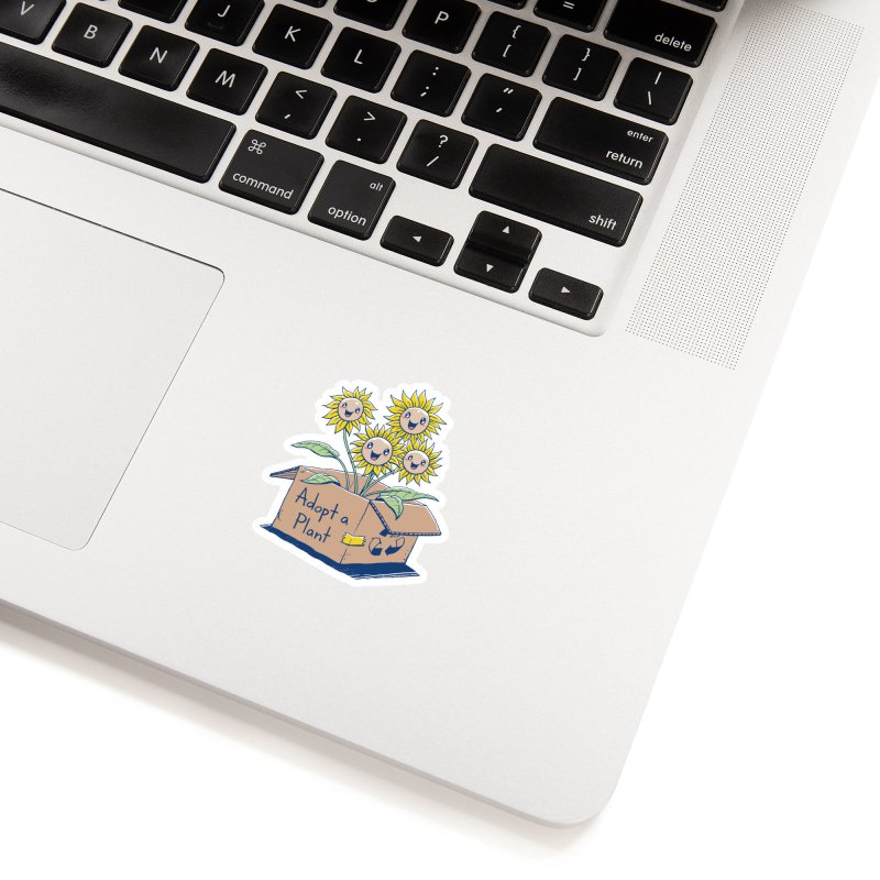 Adopt a Plant Accessories Sticker by Vincent Trinidad Art