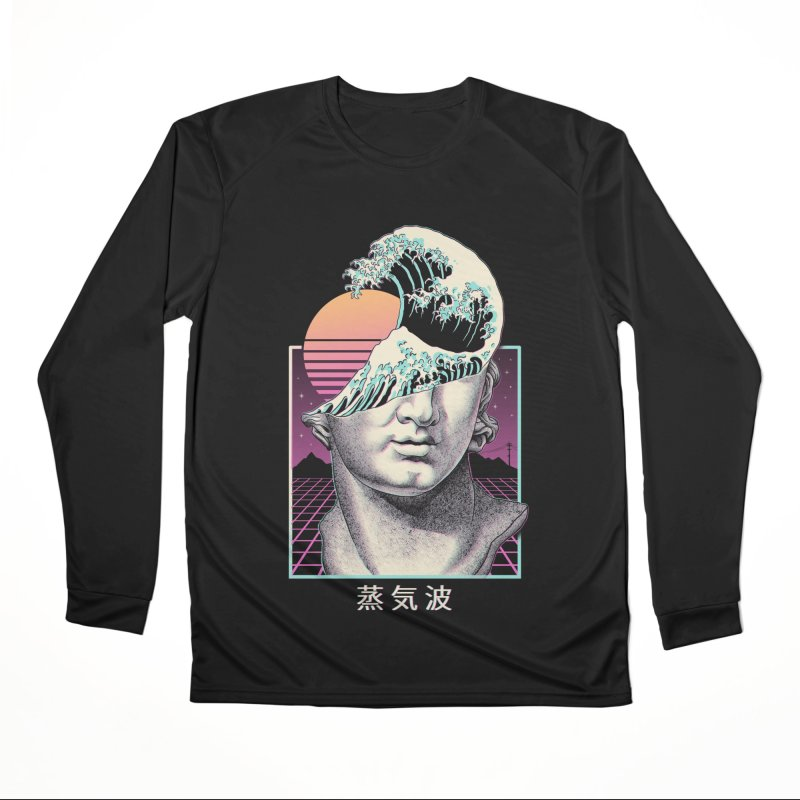 Great Vaporwave Women's Performance Unisex Longsleeve T-Shirt by Vincent Trinidad Art