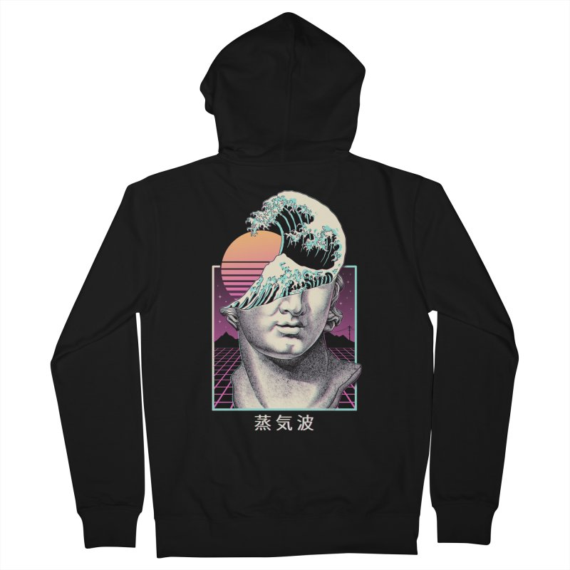 Great Vaporwave Women's French Terry Zip-Up Hoody by Vincent Trinidad Art