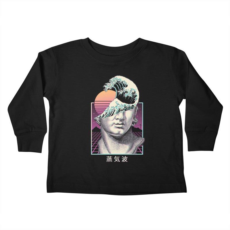 Great Vaporwave Kids Toddler Longsleeve T-Shirt by Vincent Trinidad Art