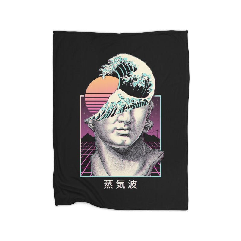 Great Vaporwave Home Fleece Blanket Blanket by Vincent Trinidad Art
