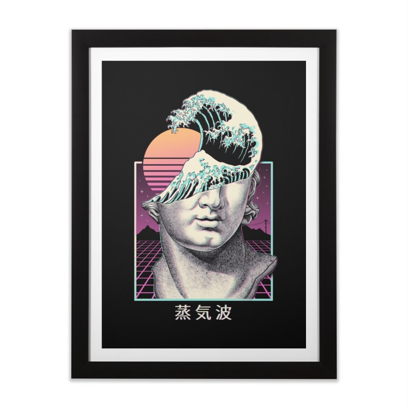 Great Vaporwave Home Framed Fine Art Print by Vincent Trinidad Art