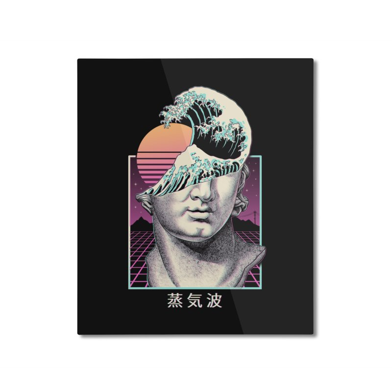Great Vaporwave Home Mounted Aluminum Print by Vincent Trinidad Art