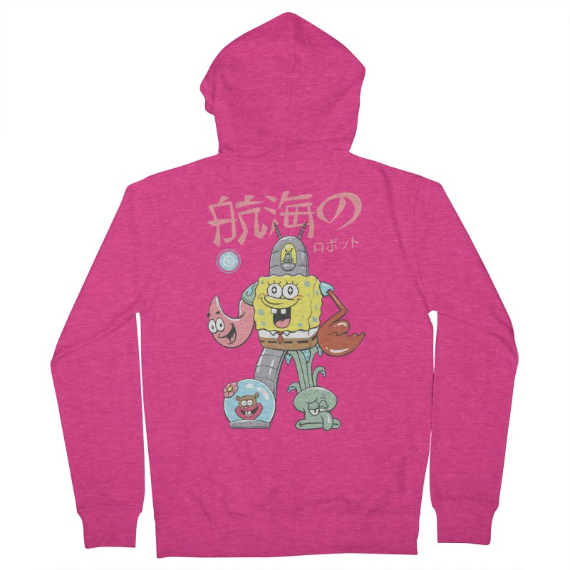 Nautical Combiner Women's French Terry Zip-Up Hoody by Vincent Trinidad Art