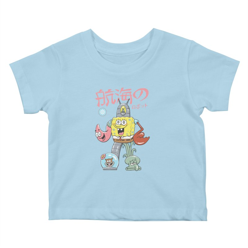 Nautical Combiner Kids Baby T-Shirt by Vincent Trinidad Art