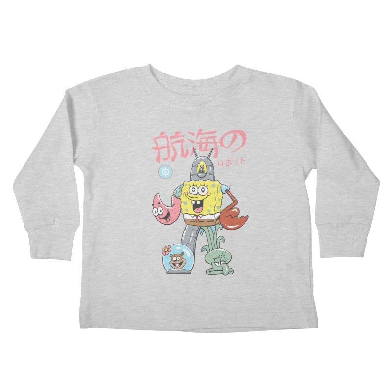 Nautical Combiner Kids Toddler Longsleeve T-Shirt by Vincent Trinidad Art