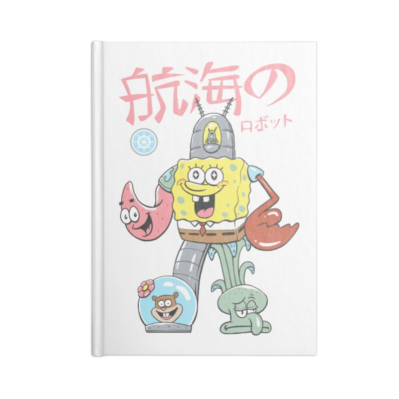 Nautical Combiner Accessories Lined Journal Notebook by Vincent Trinidad Art