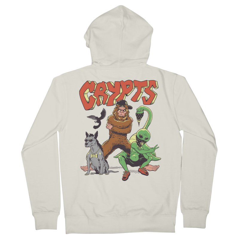 West Side Crypts Men's French Terry Zip-Up Hoody by Vincent Trinidad Art