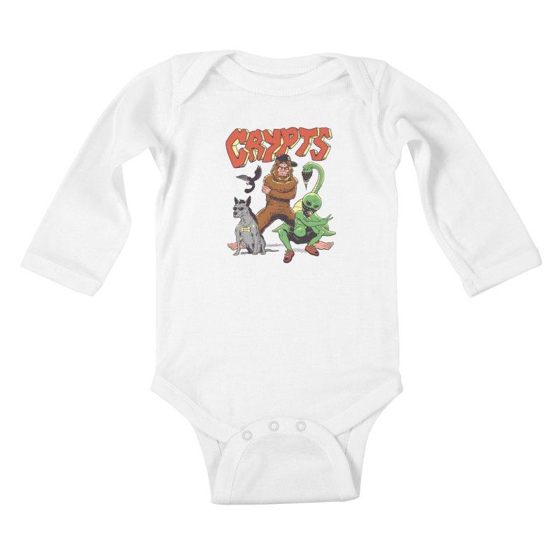 West Side Crypts Kids Baby Longsleeve Bodysuit by Vincent Trinidad Art