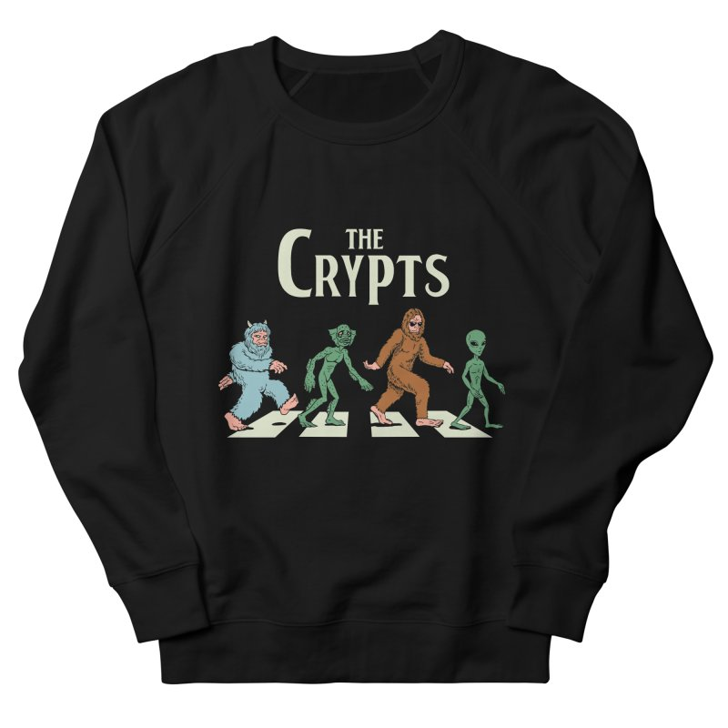 Cryptid Road Men's French Terry Sweatshirt by Vincent Trinidad Art