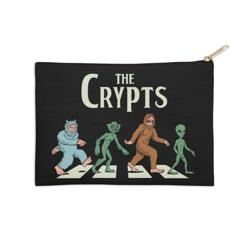 Cryptid Road Accessories Zip Pouch by Vincent Trinidad Art