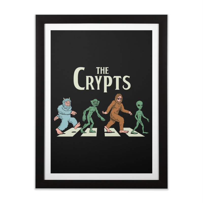Cryptid Road Home Framed Fine Art Print by Vincent Trinidad Art