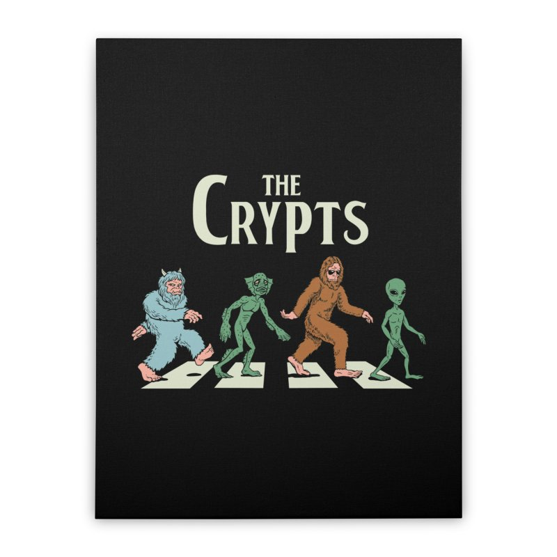 Cryptid Road Home Stretched Canvas by Vincent Trinidad Art