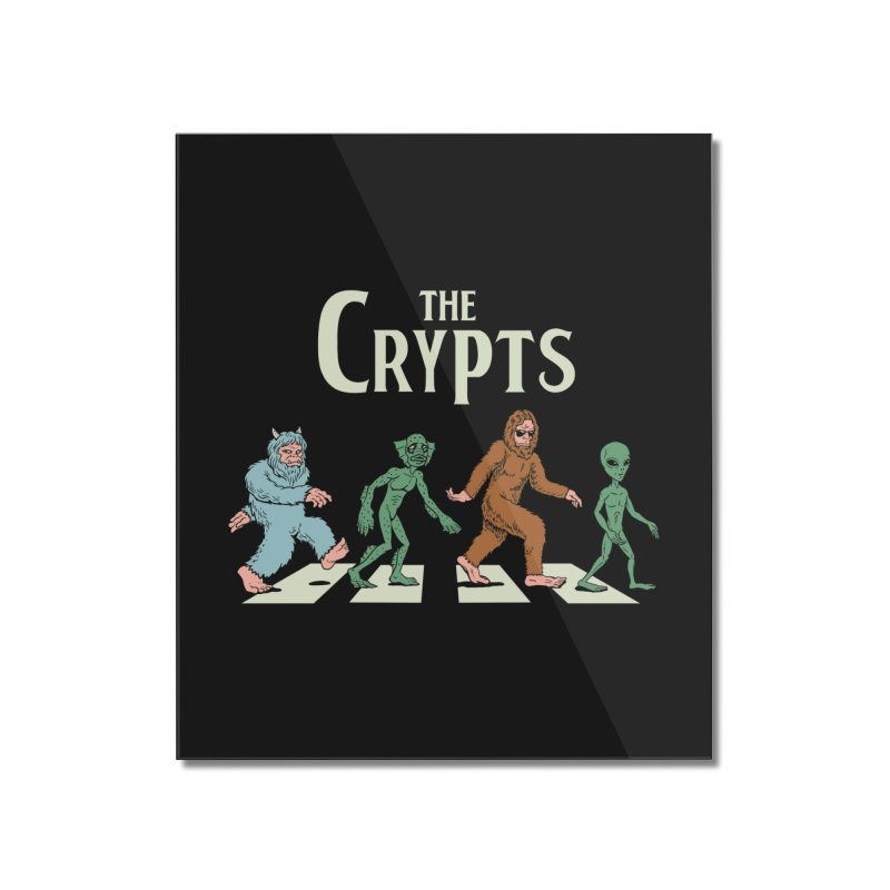 Cryptid Road Home Mounted Acrylic Print by Vincent Trinidad Art