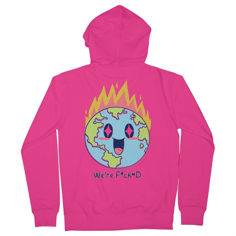 We are F*cked Men's French Terry Zip-Up Hoody by Vincent Trinidad Art