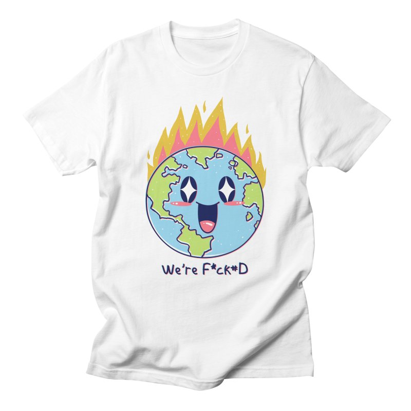 We are F*cked in Men's Regular T-Shirt White by Vincent Trinidad Art