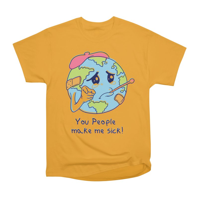 You People Make Me Sick! Men's Heavyweight T-Shirt by Vincent Trinidad Art
