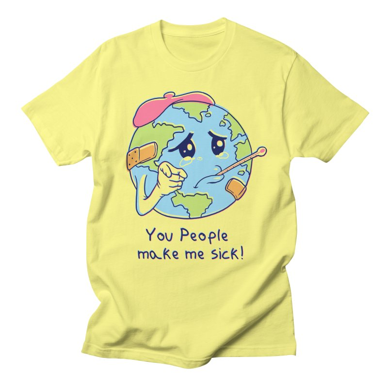 You People Make Me Sick! Men's Regular T-Shirt by Vincent Trinidad Art