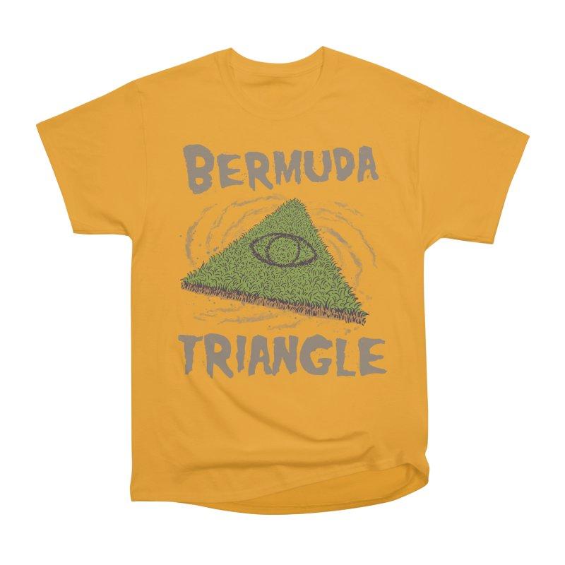 Bermuda Triangle Men's Heavyweight T-Shirt by Vincent Trinidad Art