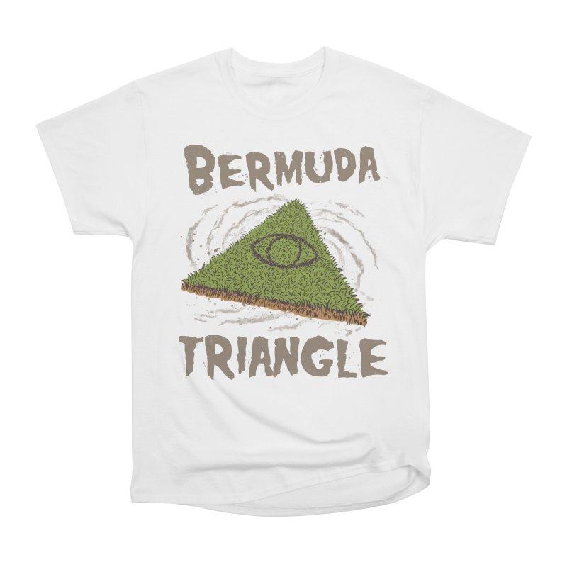 Bermuda Triangle Women's Heavyweight Unisex T-Shirt by Vincent Trinidad Art
