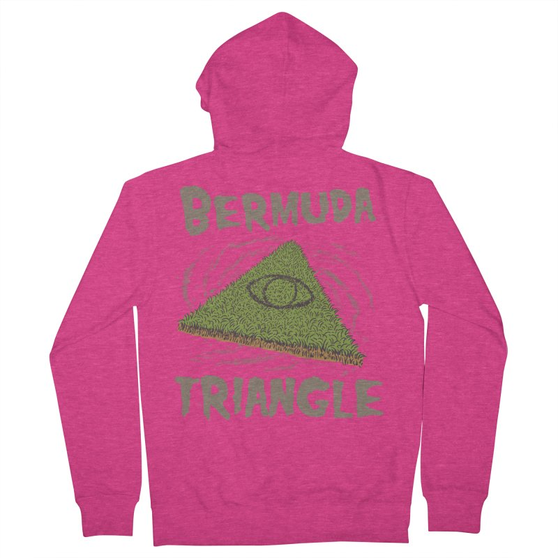 Bermuda Triangle Women's French Terry Zip-Up Hoody by Vincent Trinidad Art