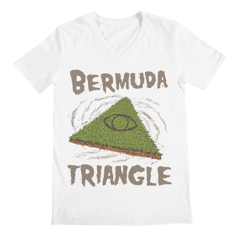 Bermuda Triangle Men's Regular V-Neck by Vincent Trinidad Art