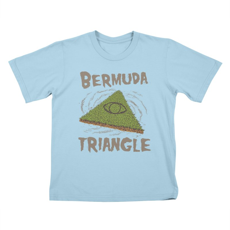 Bermuda Triangle Kids T-Shirt by Vincent Trinidad Art