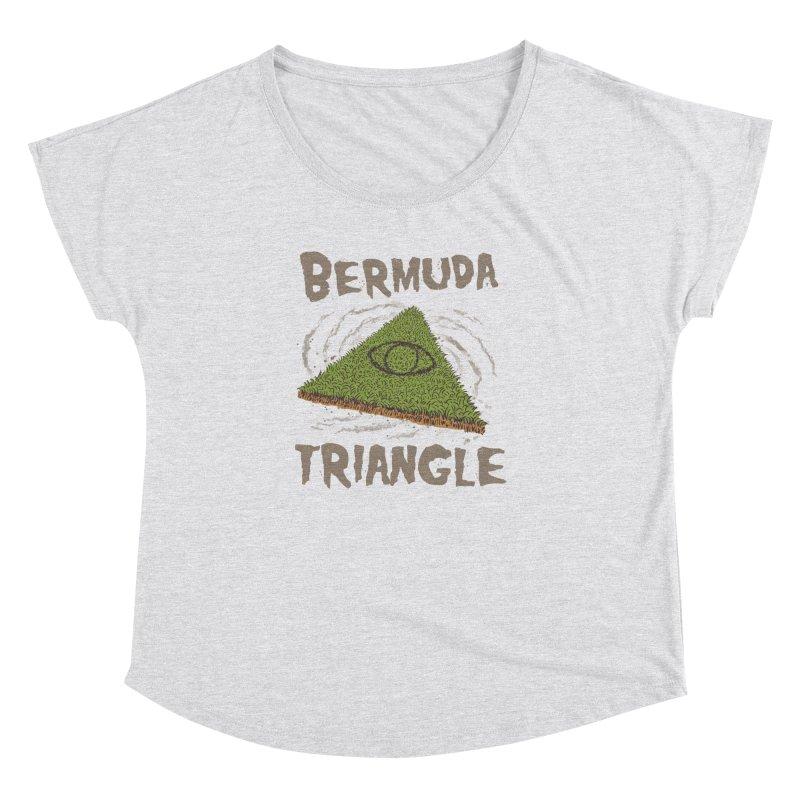Bermuda Triangle Women's Dolman Scoop Neck by Vincent Trinidad Art