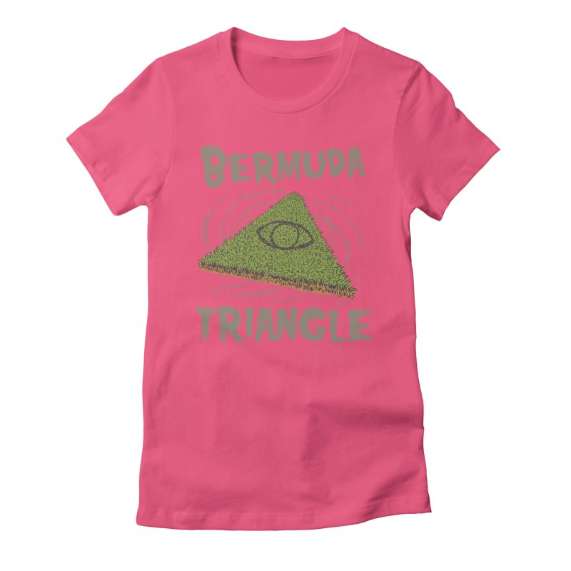 Bermuda Triangle Women's Fitted T-Shirt by Vincent Trinidad Art