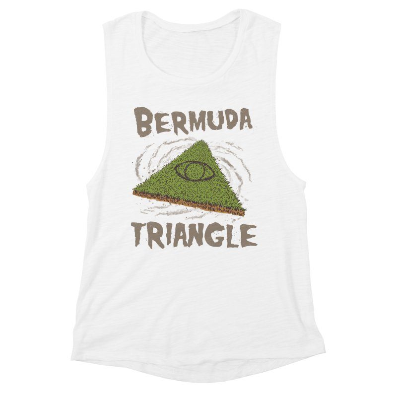 Bermuda Triangle Women's Muscle Tank by Vincent Trinidad Art