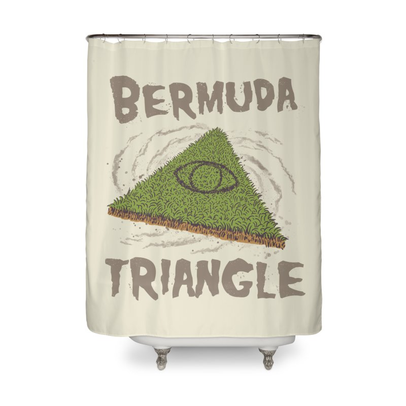 Bermuda Triangle Home Shower Curtain by Vincent Trinidad Art